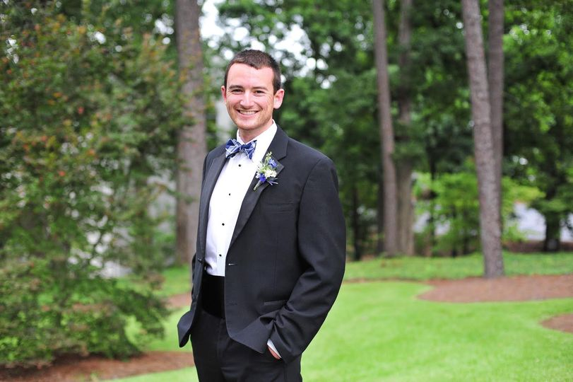 Groom in the park