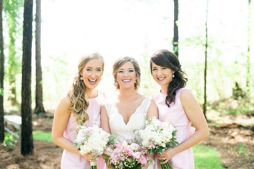 Bride and company