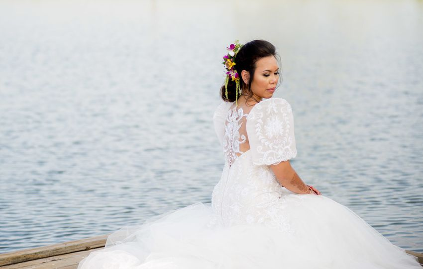 Bride by the waters