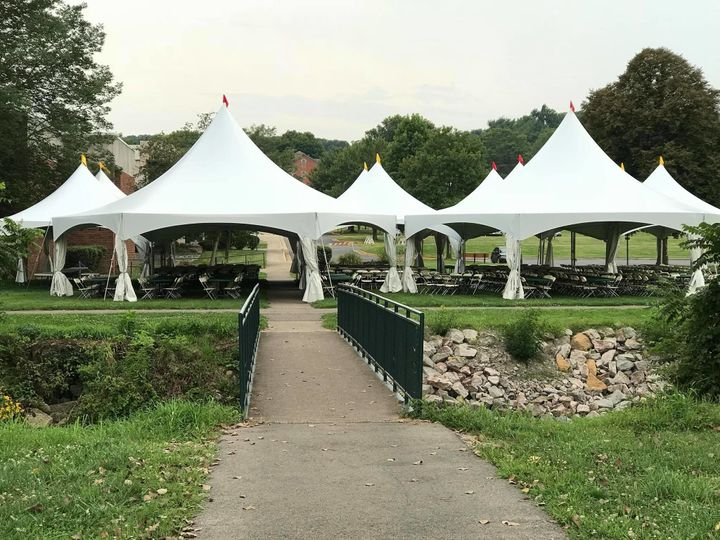 Outdoor tent setup