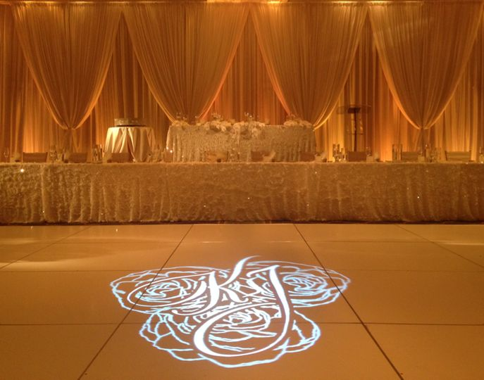 GOBO Dance Floor & Uplighting