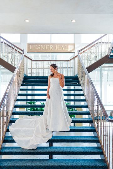 Bride on Lesner Stairs
