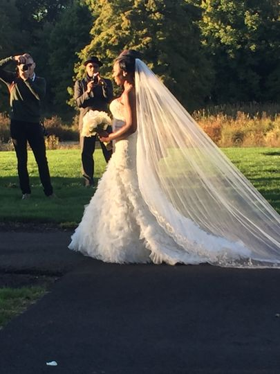 First look at the bride
