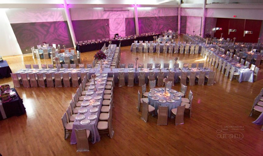 Table settings for a banquet