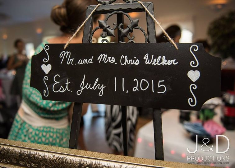 The wedding signs