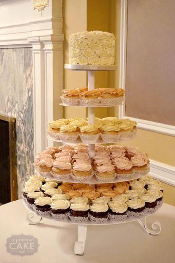 rosette cupcake tower
