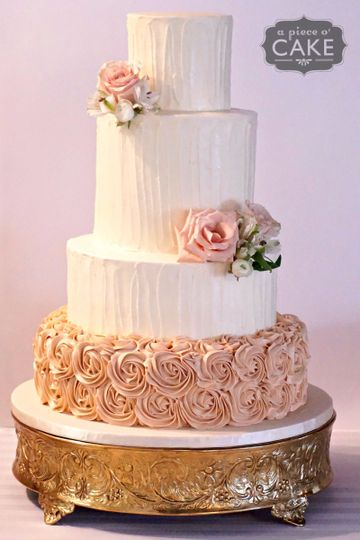 sand rose wedding cake