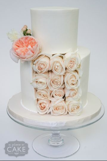 rose slice petite wedding cake