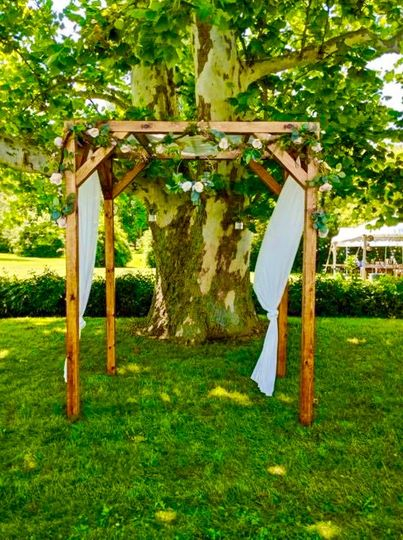 Wedding arch with decor