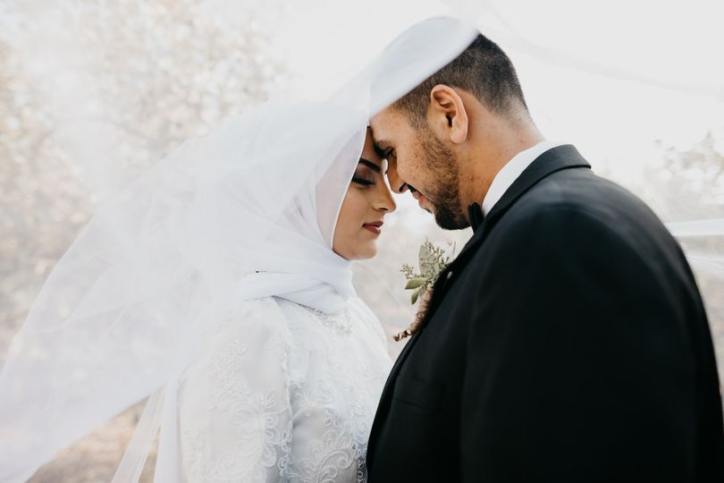 Muslim wedding poses