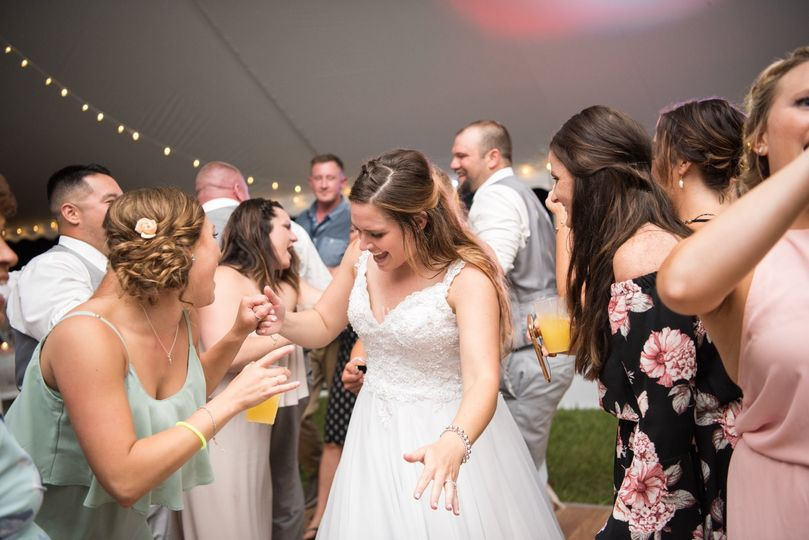 Bride will always have a smile