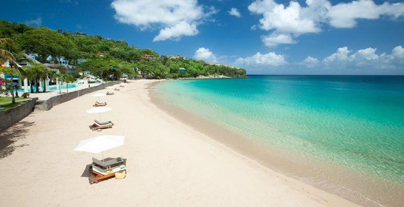 Saint Lucia beautiful bay