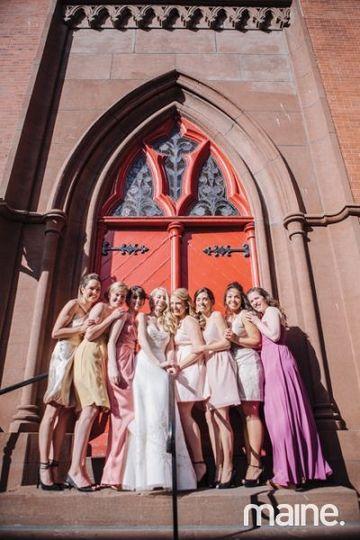 bridesmaids red door