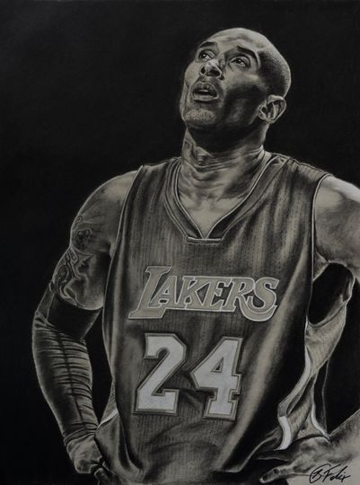 Kobe - charcoal portrait