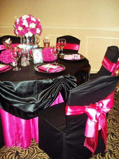 Black and pink themed