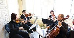 String quartet rehearsals