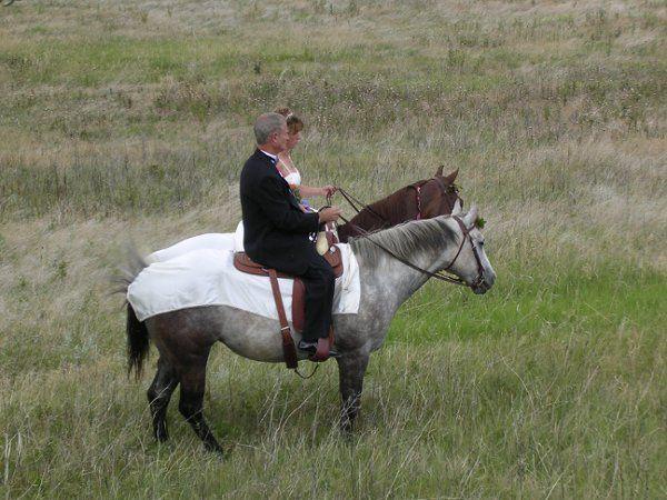 Wedding on horseback at Eltuck Group Picnic Area (Lory State Park)