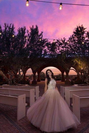 Evening wedding