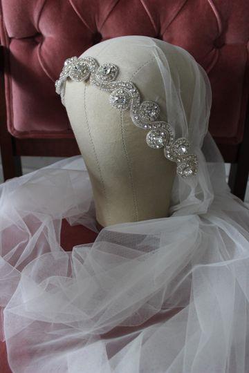 Juliet cap, vintage style veil