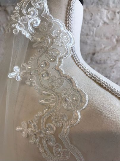 Beaded Lace trim, Hand Sewn