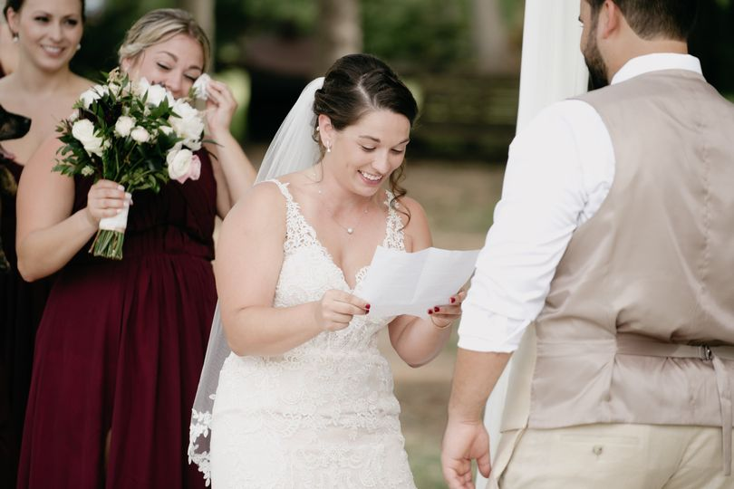 Written vows bring happy tears