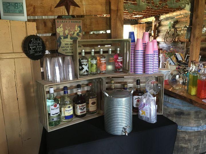 Saloon setup