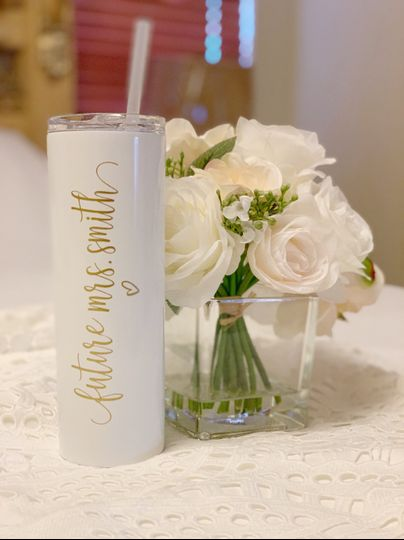 Tumbler and flowers