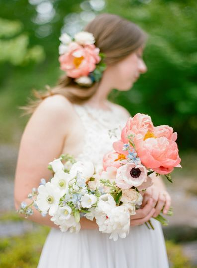 White, blush and pink bouquet