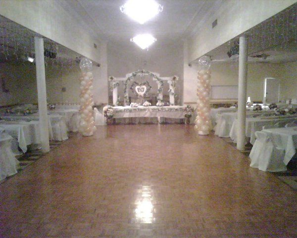 Banquet Hall:  guest seating for up to 150.One third of room is dance floor.Small stage for head...