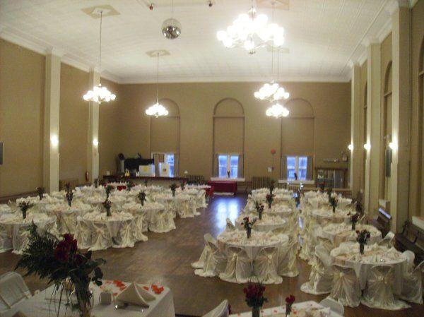 Grand Ballroom set for 200