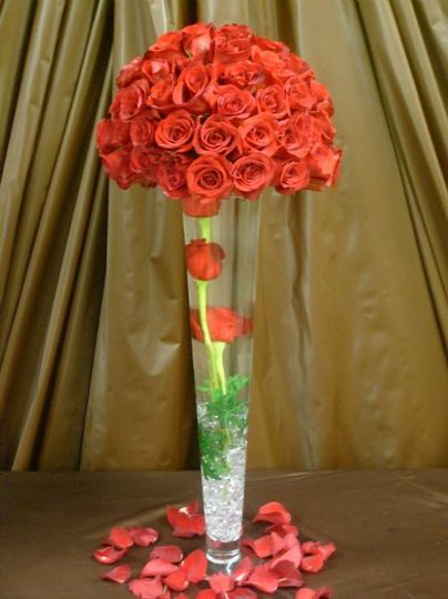 Red Roses with 3 Red Roses Under Water