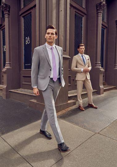 Light Grey Suit Beige Suit
