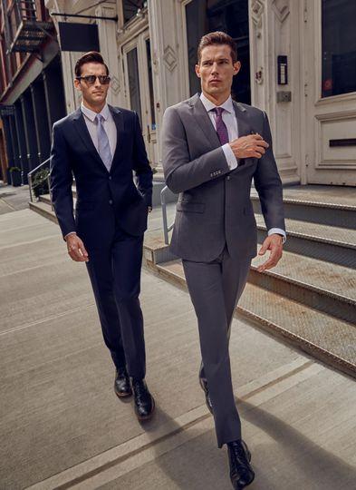Blue Suit Grtey Suit