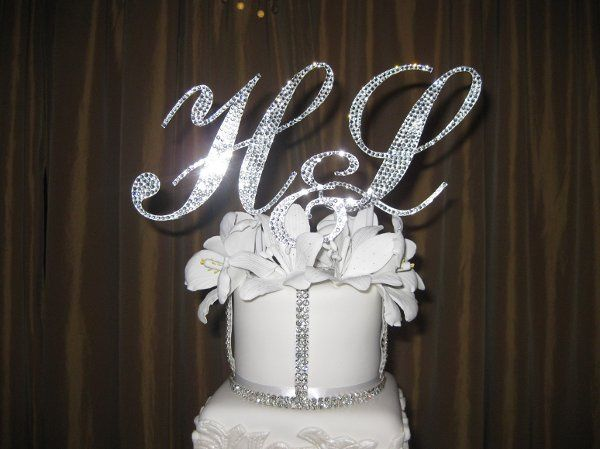 """This is a triple monogram set.  With 2-5"""" initials font: Commercial Script and a 3"""" """"&"""" font:..."""