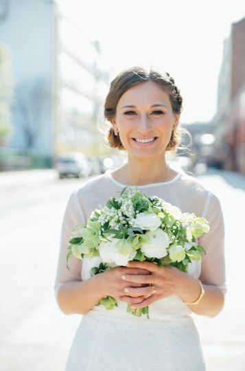 Radiant Bride with Bouquet