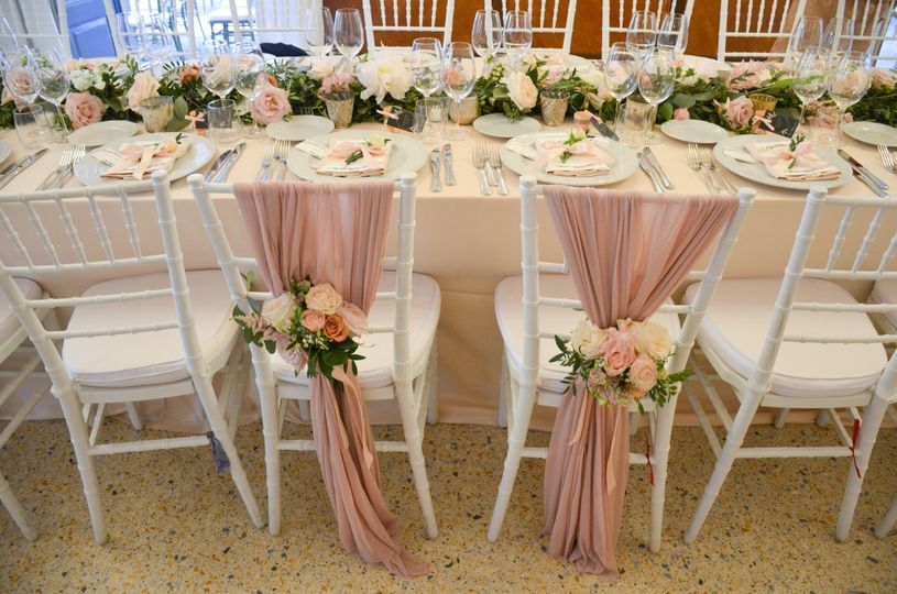 Bride's and groom's chairs
