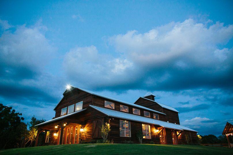The ranch at night