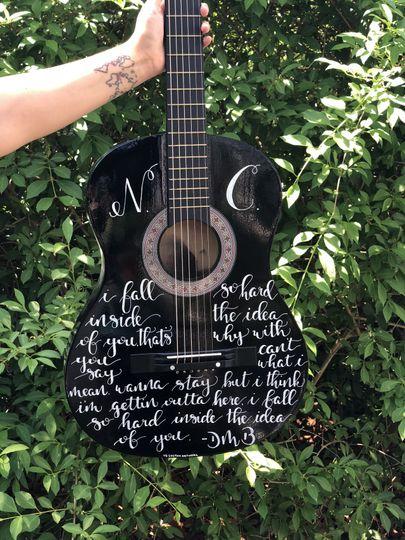 Hand lettered guitar