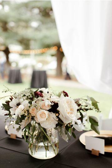 Repurposed ceremony florals