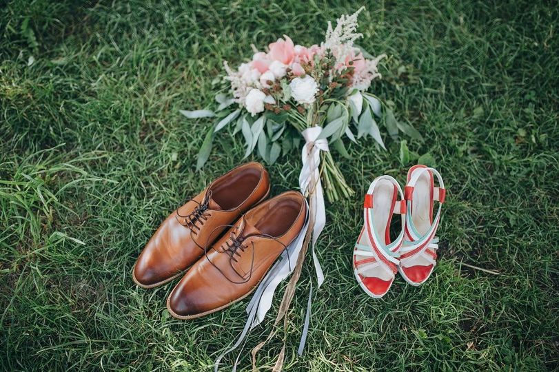 The couples shoes