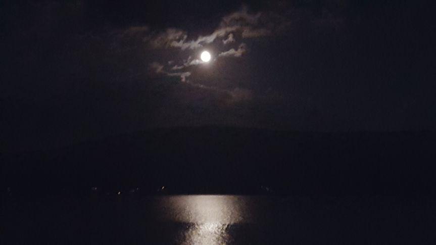 Moonlight on otsego lake