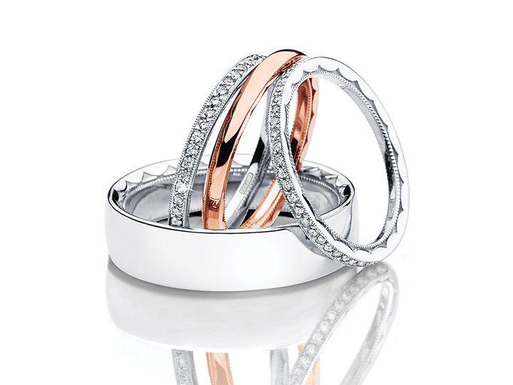 Tmx 1375215177969 Tacoriweddingbandsstackedlo Vienna wedding jewelry