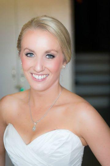 Bridal spray tan close up