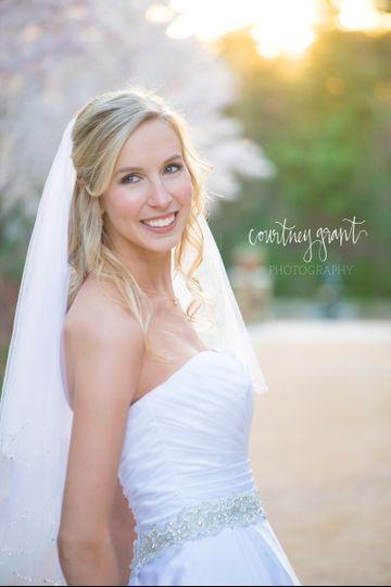 Bridal portrait spray tan