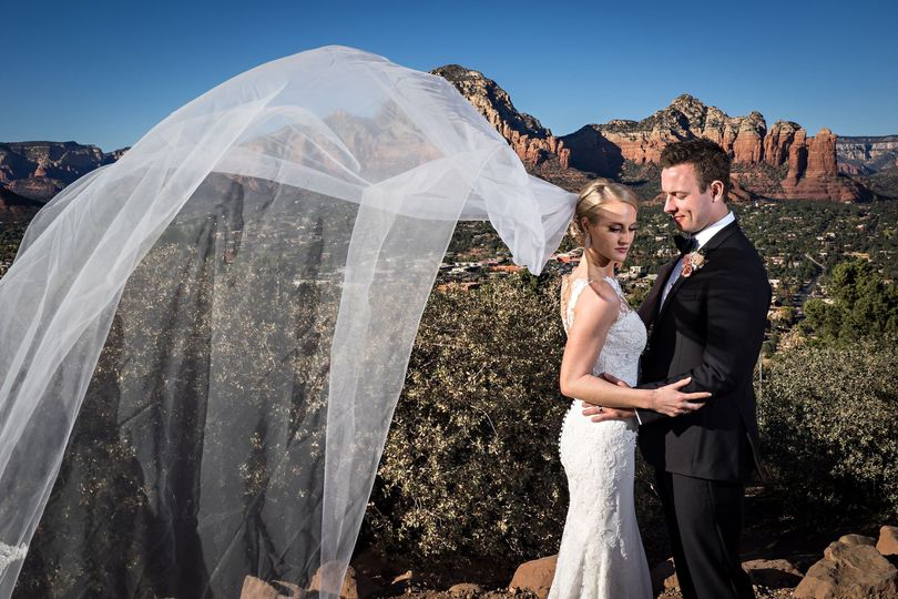 Desert wedding photo