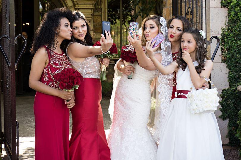 Wedding party selfies