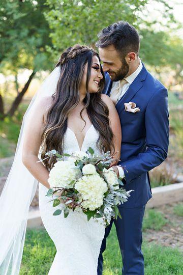 A happy wedding portrait