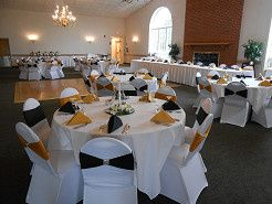 The Potomac room is our medium size room with a stately fireplace and chandeliers.  The two picture...
