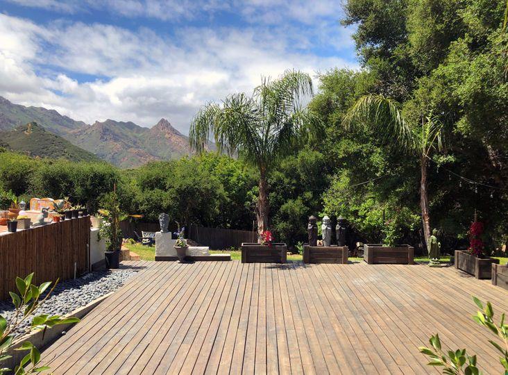 900 sq ft yoga deck