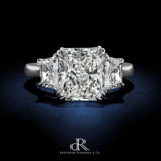dr 4 42 carat radiant g vs1 gia diamond ring engag